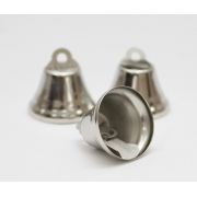 Колокольчики  18 мм под серебро (10 шт.)