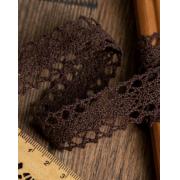 Кружево 20мм  коричневый (1м)