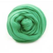 Шерсть для валяния полутонкая Троицк 0723 яркая зелень 50г