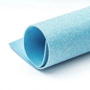 Фоамиран глиттерный 2мм 20х30см светло-голубой