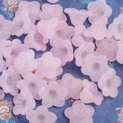 Цветы акриловые Люсит колокольчики 11.5х6.5мм, цвет розовый (10шт.)