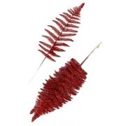 Ветка с глиттером 45х15 см красный