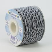 Шнур витой декоративный 4 мм №126 серый (2м)