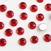 Стразы граненые акрил 8 мм, красный (20 шт)