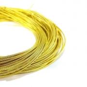 Канитель жесткая 1мм Yellow gold (1метр) 0271