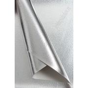 Кожа искусственная текстурный металлик 22х30 см, серебро (1 лист)
