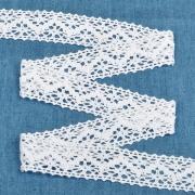 Кружево 5012 25мм белый (1метр)