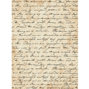 "Рисовая бумага для декупажа CP00591-1 ""Старинная рукопись"" А4"