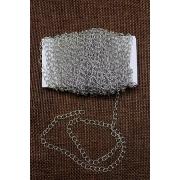 Цепь декоративная нержавеющая,  4 мм  (1 метр) под серебро
