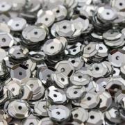 Пайетки ZC 6 мм 10 г белое серебро №65