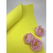 Фоамиран шелковый 1 мм 50х50см желтый