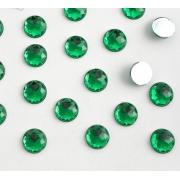 Стразы граненые акрил 8 мм, зелёный (20 шт)