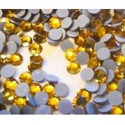 Термоклеевые стразы Zlatka RS SS30 Crystal 6.5 мм темно-желтый (144 шт.)