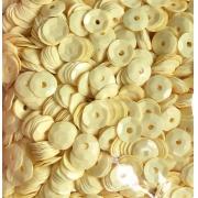 Пайетки 6 мм 10 г желтый пастельный
