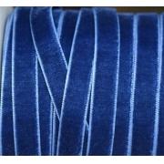 Лента бархатная 20 мм темно-синяя 116 (1м)