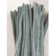 Проволока  синельная шенил 30 см серый, 50 шт
