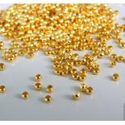 Бусины зажимные кримпы (50шт.) золото