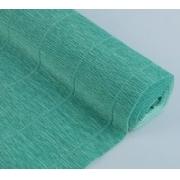 Гофрированная бумага №17е/4 0.5х2.5м морская зеленая