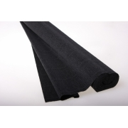 Гофрированная бумага 180г/м2 №602 0.5х2.5м черная (Италия)