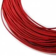 Канитель жесткая 1мм Red 0040 (1метр)