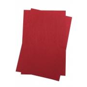 Фетр Китай жесткий 30х21 см 1 мм красный №005  (2 листа)