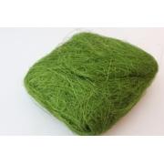 Сизаль (сизалевое волокно) 100гр, зелёный