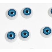 Глазки обьемные круглые 12 мм, голубые (пара)