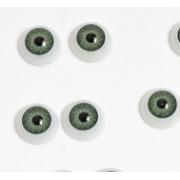 Глазки обьемные круглые 12 мм, зеленые (пара)