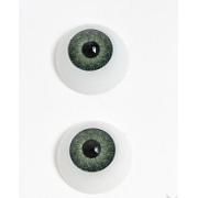 Глазки обьемные круглые 20 мм, зеленые (пара)