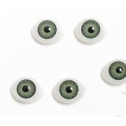 Глазки обьемные  15х11 мм, зеленые (пара)