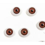 Глазки обьемные 15х11 мм, карие (пара)