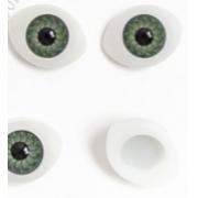 Глазки обьемные 20х15 мм, зеленые (пара)