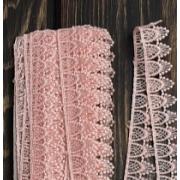 Кружево 25 мм, нежно-розовый (1 метр)