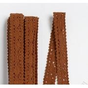 Кружево  15мм, коричневый (1 метр)
