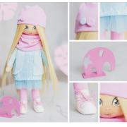 Интерьерная кукла «Клэр», набор для шитья, 18 × 22.5 × 3 см