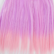 Трессы прямые 15 см*1 м,  розовые