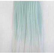 Трессы прямые 20 см*1 м,  светло-голубые
