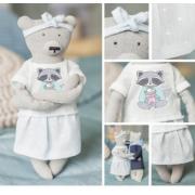 Мягкая игрушка «Домашняя медведица Лорен», набор для шитья, 18 × 22.5 × 2 см