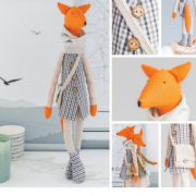 Мягкая игрушка «Стильный лис Джонни», набор для шитья, 18 × 22.5 × 2.5 см