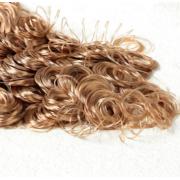 Волосы для кукол кудрявые, размер завитка: 1 см, каштановый