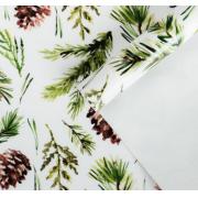 Бумага упаковочная глянцевая «Еловый вальс», 70 × 100 см