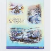 Карта для декупажа «Снежная сказка», 29.7 × 21 см