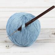 Крючок для вязания металл с пластиковой ручкой 14см 0.5