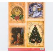 Карта для декупажа «Новогоднее чудо», 29.7 × 21 см