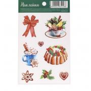 Наклейки «Рождественские вкусности», 11 х 18 см