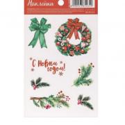 Наклейки «Рождественский веночек», 11 х 18 см