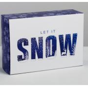 Коробка складная Let it snow, 16 × 23 × 7.5 см