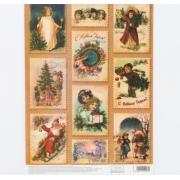 Декупажная карта «Винтажный Новый год», 21 × 29,7 см