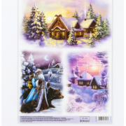 Декупажная карта «Зимнее волшебство», 29,7 × 21 см