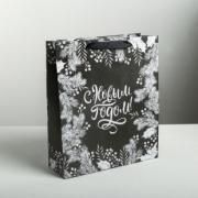 Пакет крафтовый вертикальный «Волшебство праздника», ML 23 × 27 × 8 см